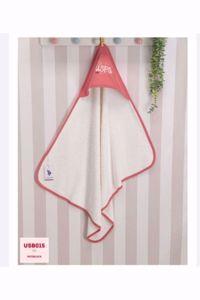 Resim U.s.polo.assn Kız Bebek Gül Kurusu Banyo Havlu
